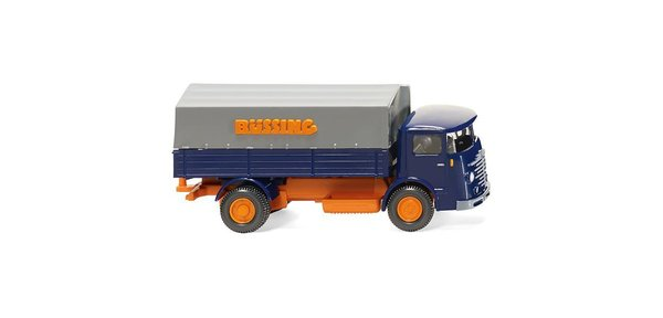 WIKING - Pritschen-Lkw (Büssing 4500) - blau/orange